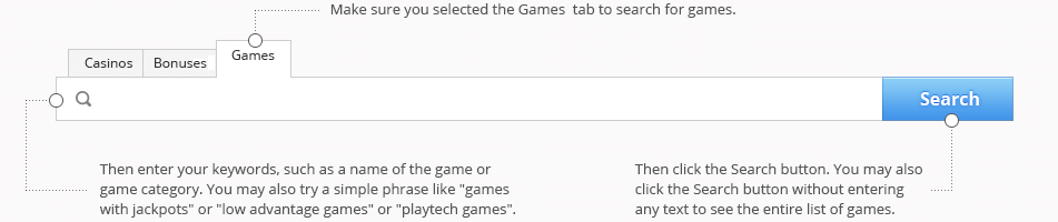 Games Text Search