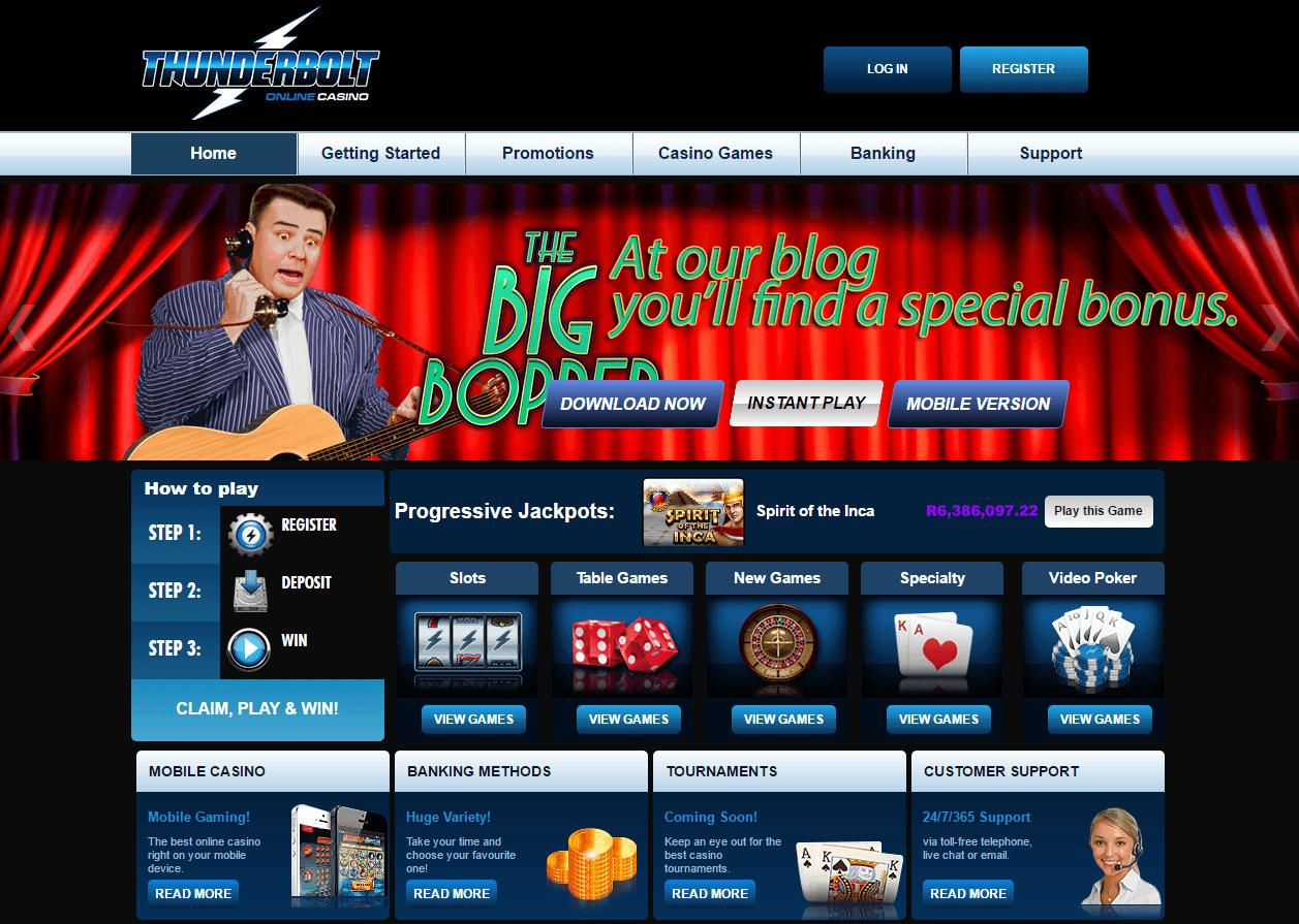 Thunderbolt Casino Review