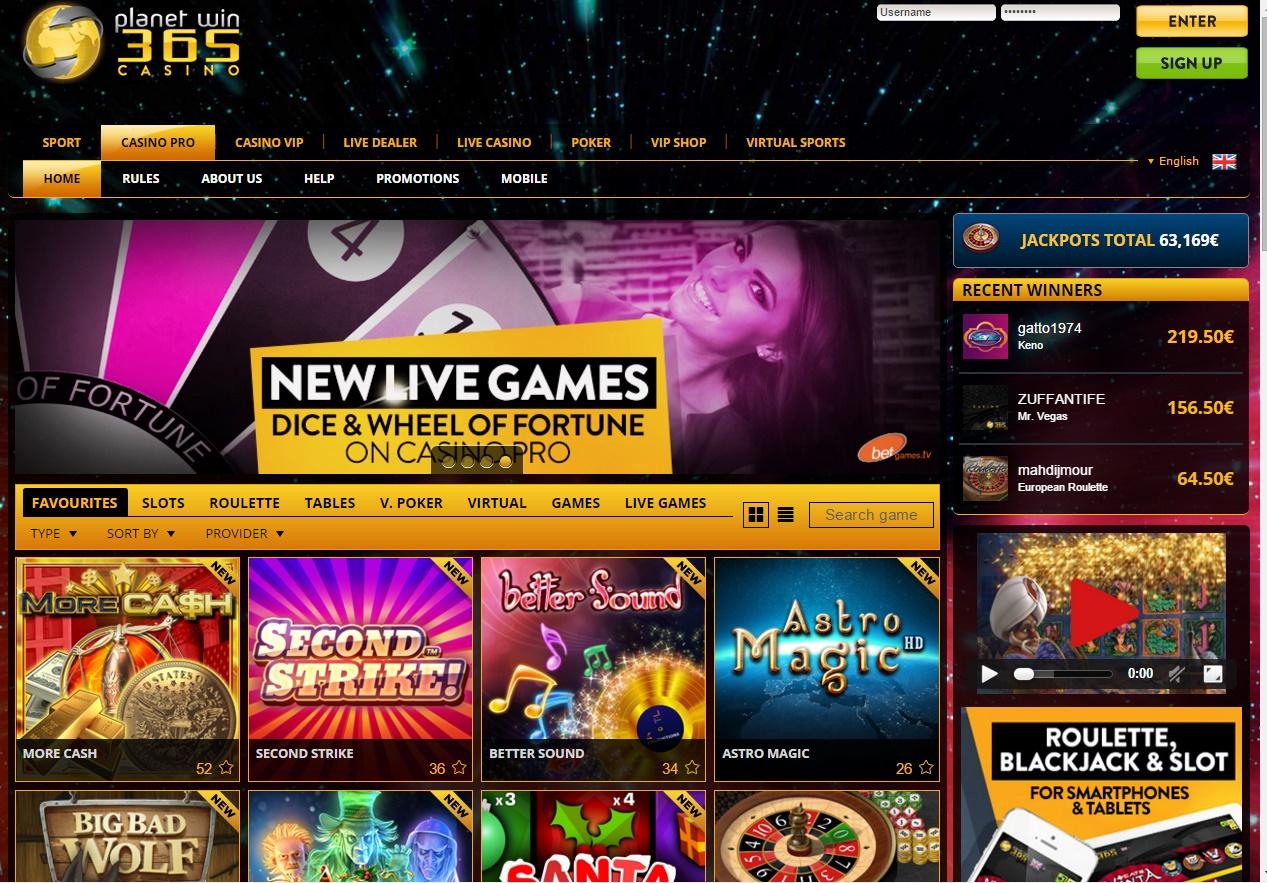 planet win 365 mobile casino