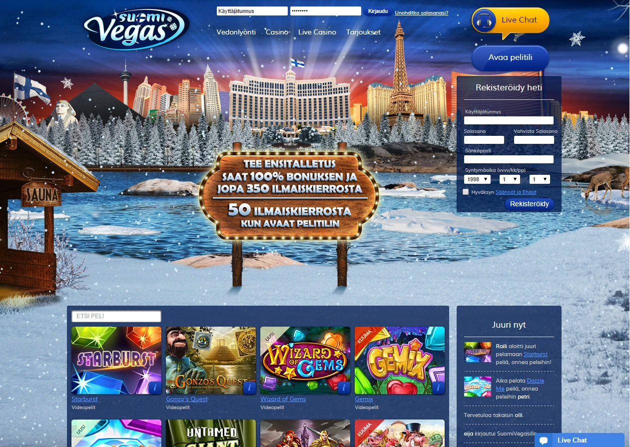 Suomi Vegas Casino Review of Bonuses Games and Software