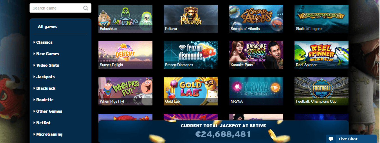 betive casino bonus codes