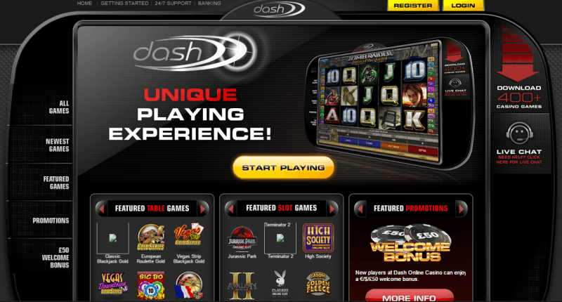 dash casino download
