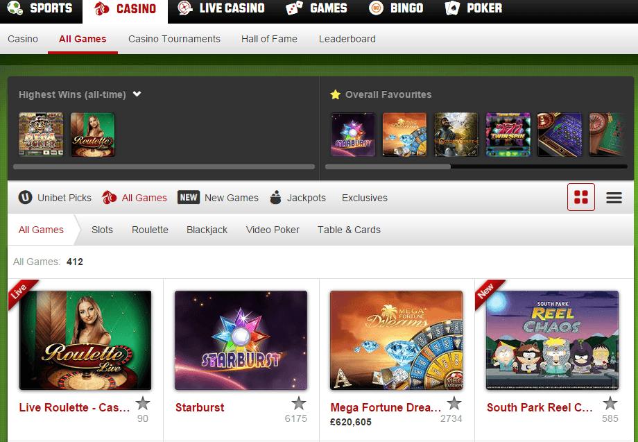 best unibet casino game