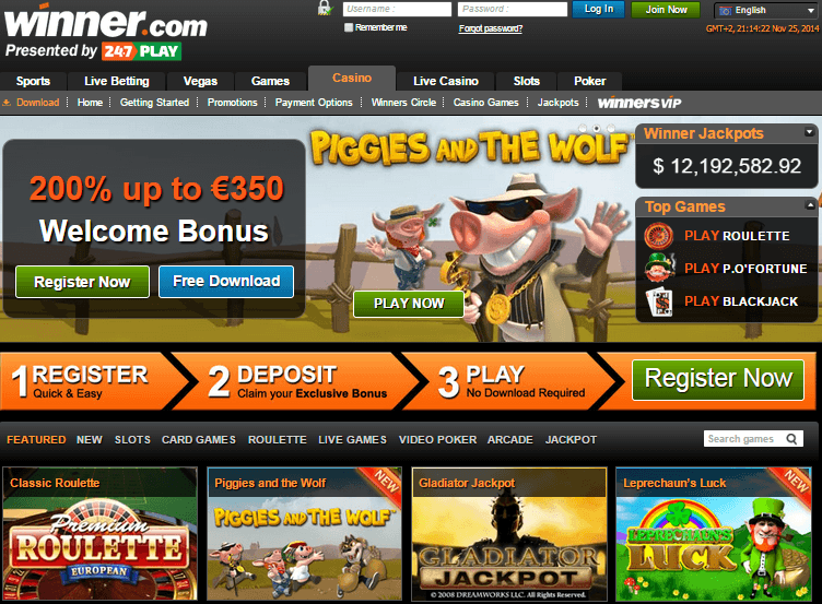 winners casino download