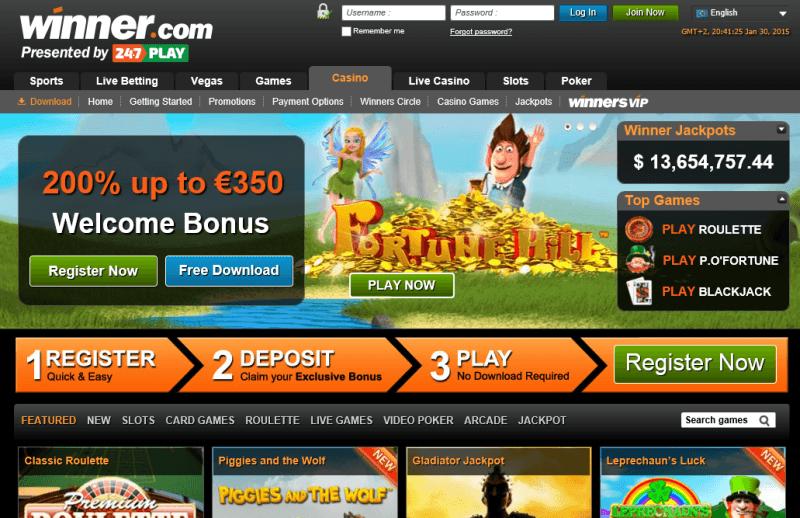 winner casino software download