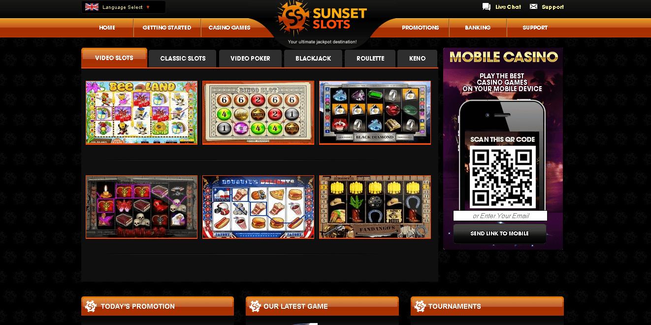 sunset casino bonus