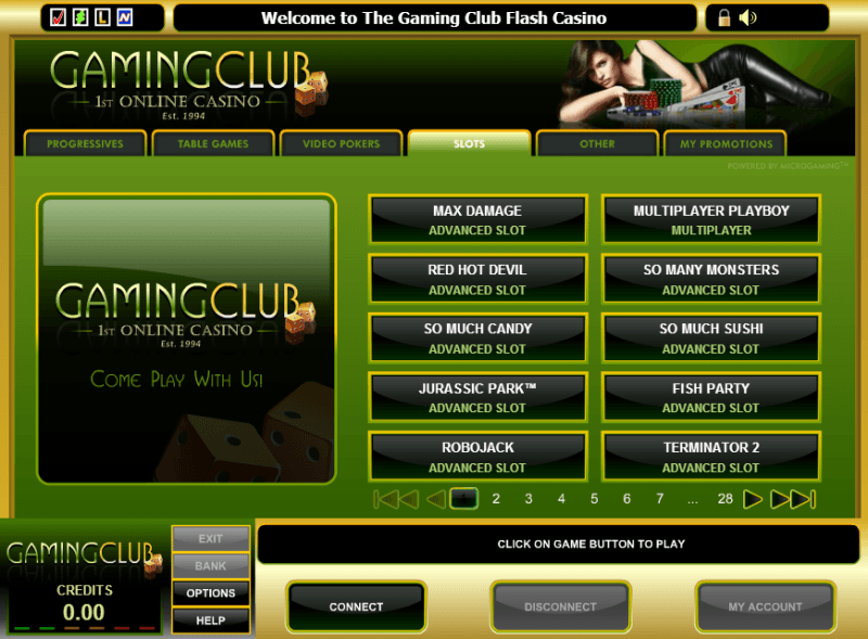 Software Gaming Club Casino