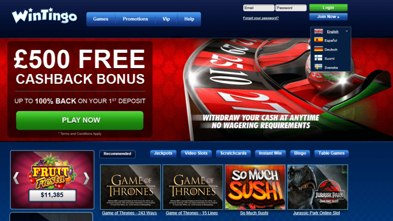 wintingo casino bonus code