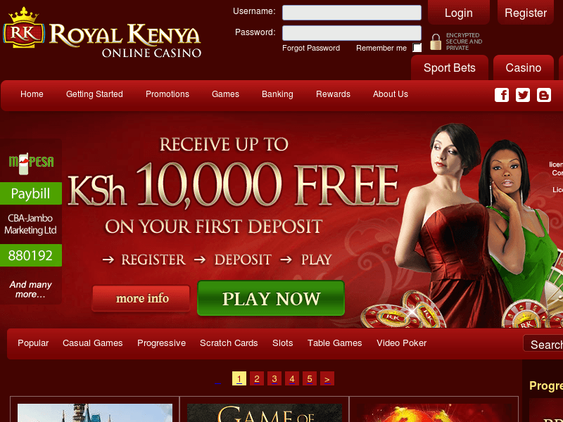 online betting casinos in kenya