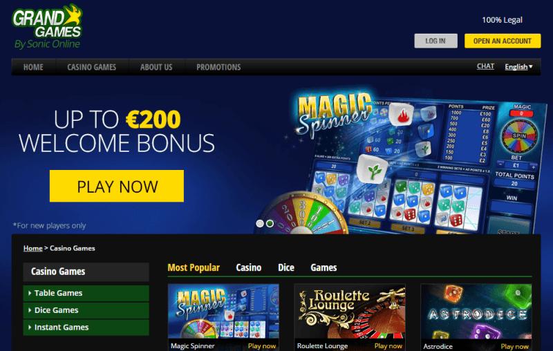 Gambling website software