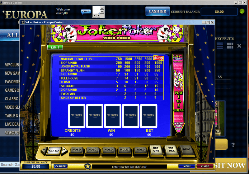 online casino list joker poker