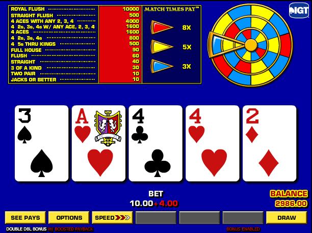 online vegas casino poker 4 of a kind