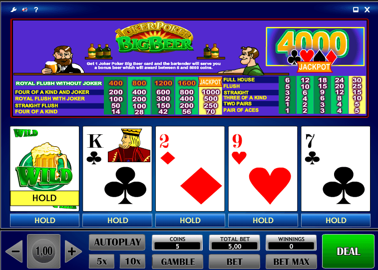 online casino game poker 4 of a kind