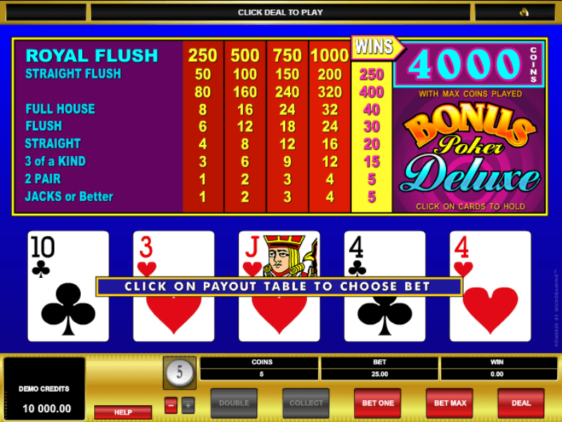 free slots online casino poker 4 of a kind