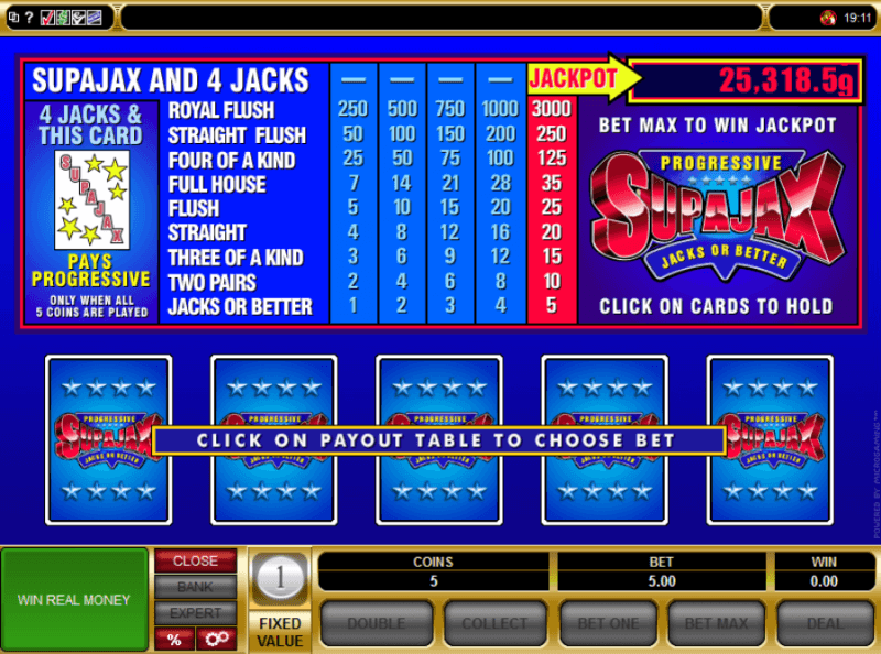 Video poker shockwave