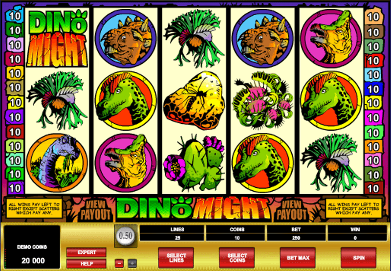 Dino Might Slot - Free Online Casino Game by Microgaming