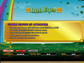 'Irish Eyes' by 'Microgaming'. Click the image to enlarge.