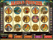 'Mayan Princess' by 'Microgaming'. Click the image to enlarge.