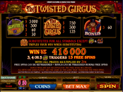 'The Twisted Circus' by 'Microgaming'. Click the image to enlarge.