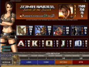 'Tomb Raider Secret of the Sword' by 'Microgaming'. Click the image to enlarge.
