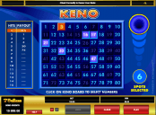 'Keno' by 'Microgaming'. Click the image to enlarge.