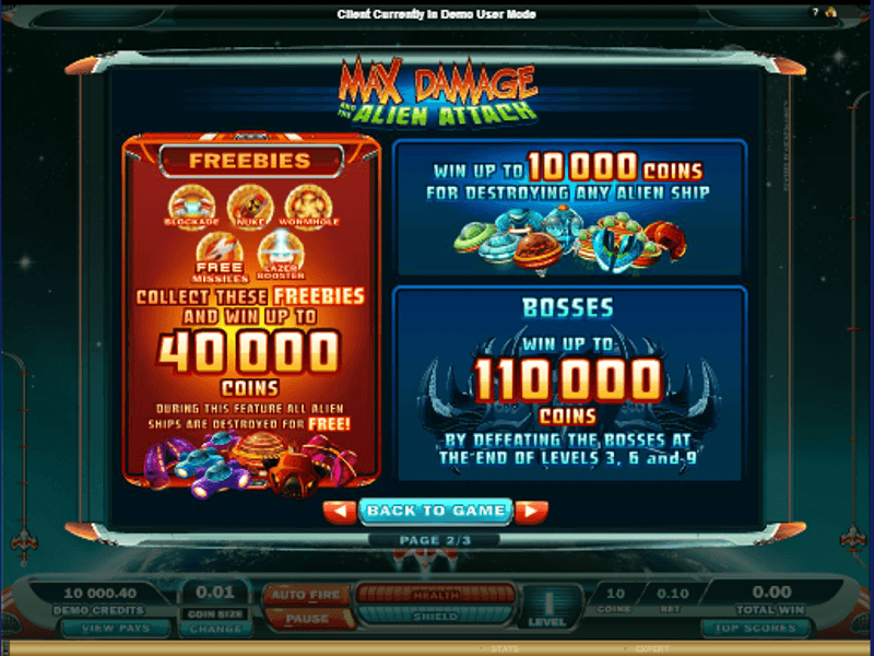 Aliens Attack™ Slot Machine Game to Play Free in Microgamings Online Casinos