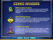 'Cosmic Invaders' by 'Microgaming'. Click the image to enlarge.