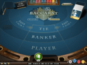 'Baccarat Professional series' by 'Net Entertainment'. Click the image to enlarge.