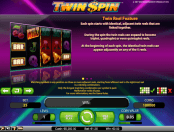 'Twin Spin' by 'Net Entertainment'. Click the image to enlarge.