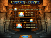 'Crown of Egypt' by 'IGT'. Click the image to enlarge.