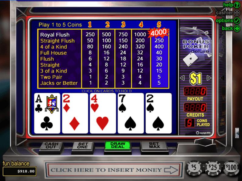 free online casinos slots poker 4 of a kind