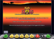 '50 Lions' by 'Novomatic'. Click the image to enlarge.