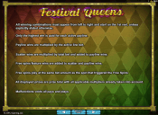 'Festival Queens' by 'Microgaming'. Click the image to enlarge.
