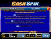 'Cash Spin' by 'Bally Interactive'. Click the image to enlarge.