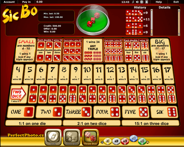 Play Sic Bo for free Online | OVO Casino