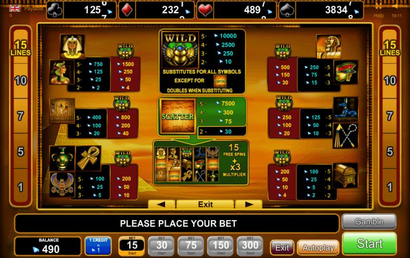 online casino euro booc of ra