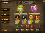 'Heavy Metal Warriors' by 'iSoftBet'. Click the image to enlarge.