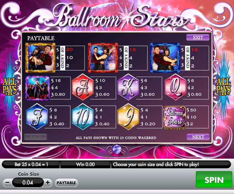 Ballroom Stars Slots - Free to Play Demo Version