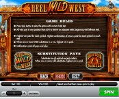 'Reel Wild West' by 'Gamesys Limited'. Click the image to enlarge.