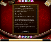 'Pai Gow Poker' by 'Gamesys Limited'. Click the image to enlarge.