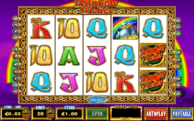 Free slots rainbow riches barcrest casino royale train journey