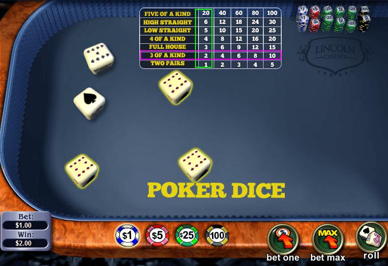 online casino list dice online