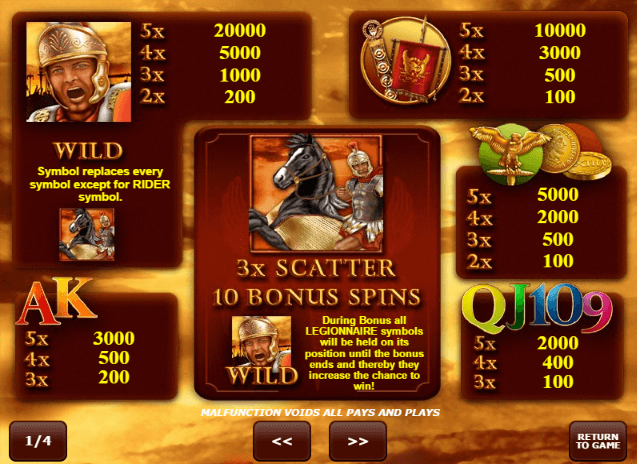 Roman Legion Slot Machine - Play Free Amatic Slots Online
