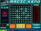 'Magic Keno' by 'Pariplay'. Click the image to enlarge.