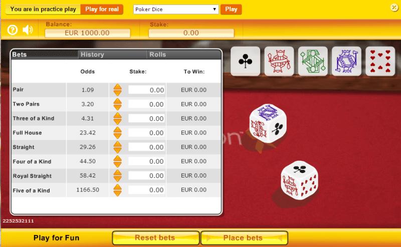 online casino list online dice
