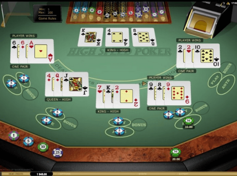 Card poker games list