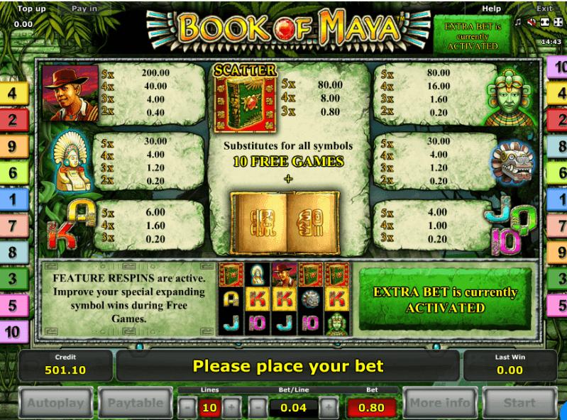 book of aztec casino