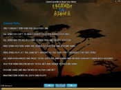 'Legends Of Africa' by 'Microgaming'. Click the image to enlarge.