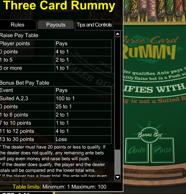 Vegas Three Card Rummy: Link To Casinos, Payouts & Tips