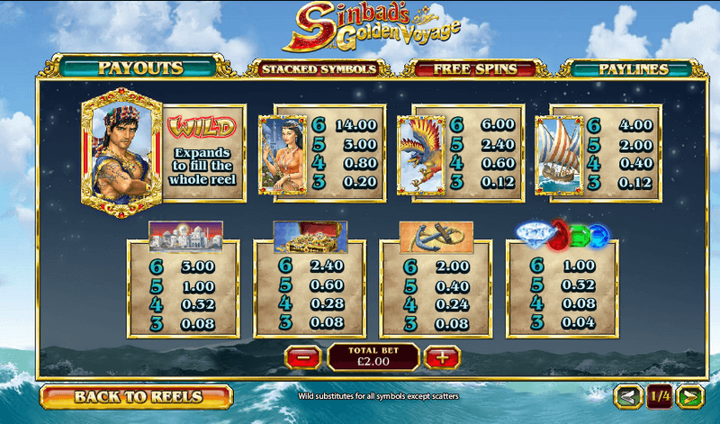 Play Sinbad's Golden Voyage Pokie at Casino.com Australia
